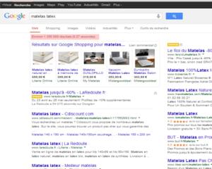 Google retourne environ 1 250 000 résultats