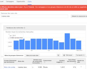recherches mensuelles Google